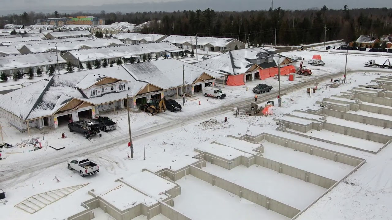 The Villas at Wasaga Meadows - Construction Progression February 2020.