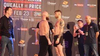 Bellator 217: Peter Queally vs. Myles Price Weigh-In Staredown - MMA Fighting