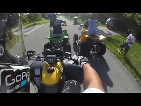 Yamaha Warrior 350 Running hard & messing around GoProHD