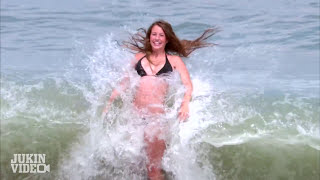 Bikini Model Girl SMACKED By Huge Wave