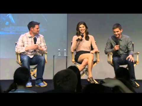 Logan Lerman and Alexandra Daddario interview at The Apple Soho Store (Part 1)