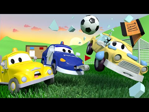 Thumbnail: The FOOTBALL GAME with the Baby Cars in Car City ! - Cartoon for kids