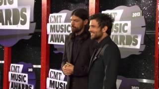 Scott and Seth Avett of The Avett Brothers, CMT Music Awards