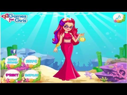 เกมส์บาร์บี้แต่งตัวเจ้าหญิงบาร์บี้นางเงือก MEESHELL'S MERMAID DRESSES ♥mookmix♥