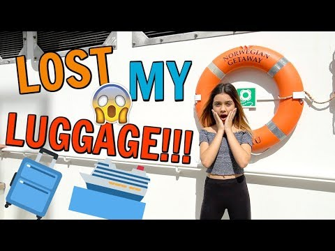OMG Lost my luggage on my cruise vacation *intense  🚢😱