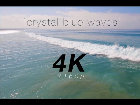 """Crystal Blue Waves"" a 4K Nature Relaxation Video / Screensaver"