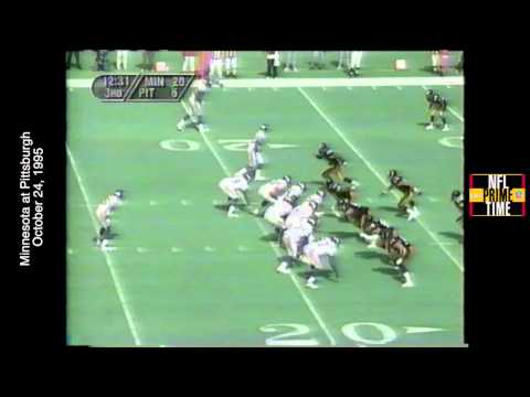 NFL Primetime, Minn at Pitt, 9/24/95, 40 Yard Shoeless TD