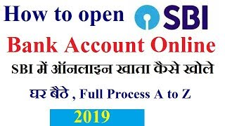 SBI Online Account Opening process in hindi/urdu 2019,How to open abi account online