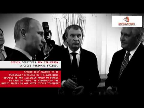Tillerson, Sechin, and Putin. Best friends since the 90's?