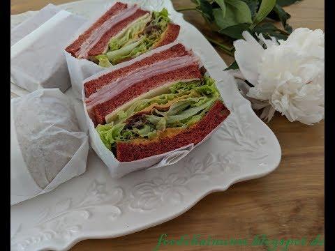 How to wrap sandwich and hamburger no tape 如何不使用膠帶包裝三明治,漢堡方法