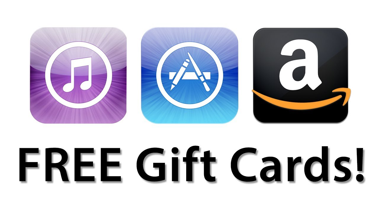 how to get free itunesapp store and amazon gift cards - Prepaid Cards Near Me