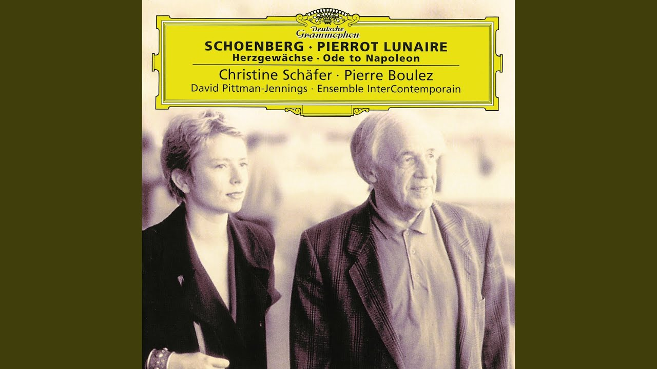 schoenberg and pierrot Schoenberg, pierrot lunaire pierrot lunaire is one of those rare masterpieces that seems to have materialised out of thin air, that had no antecedents yet defined an expressive world that is unique.