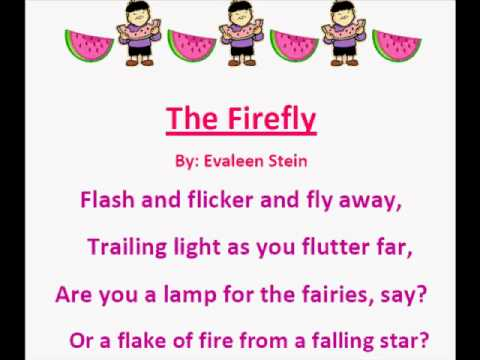 The Firefly (Summer Poems) - YouTube