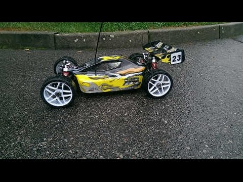 Buggy Thunder Tiger 1 8 Top Speed 4s Youtube