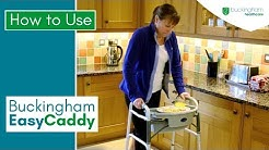 EasyCaddy Walker Tray with Basket: How to Use and Fit