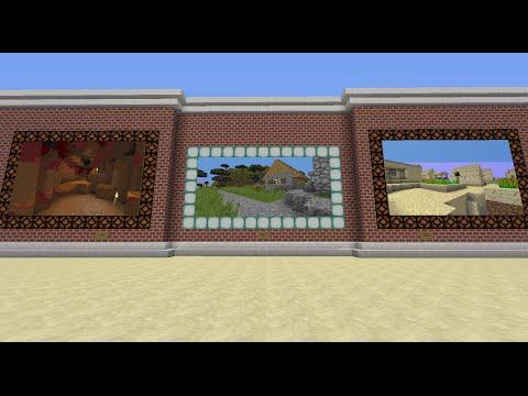 Painting Portals In Vanilla Minecraft