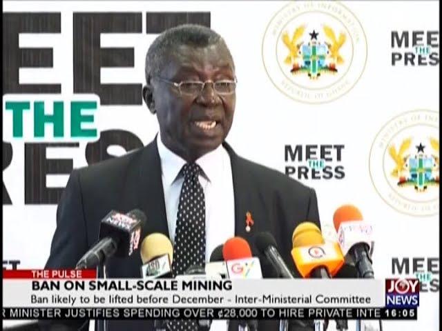 Ban on Small-Scale Mining - The Pulse on JoyNews (16-8-18)