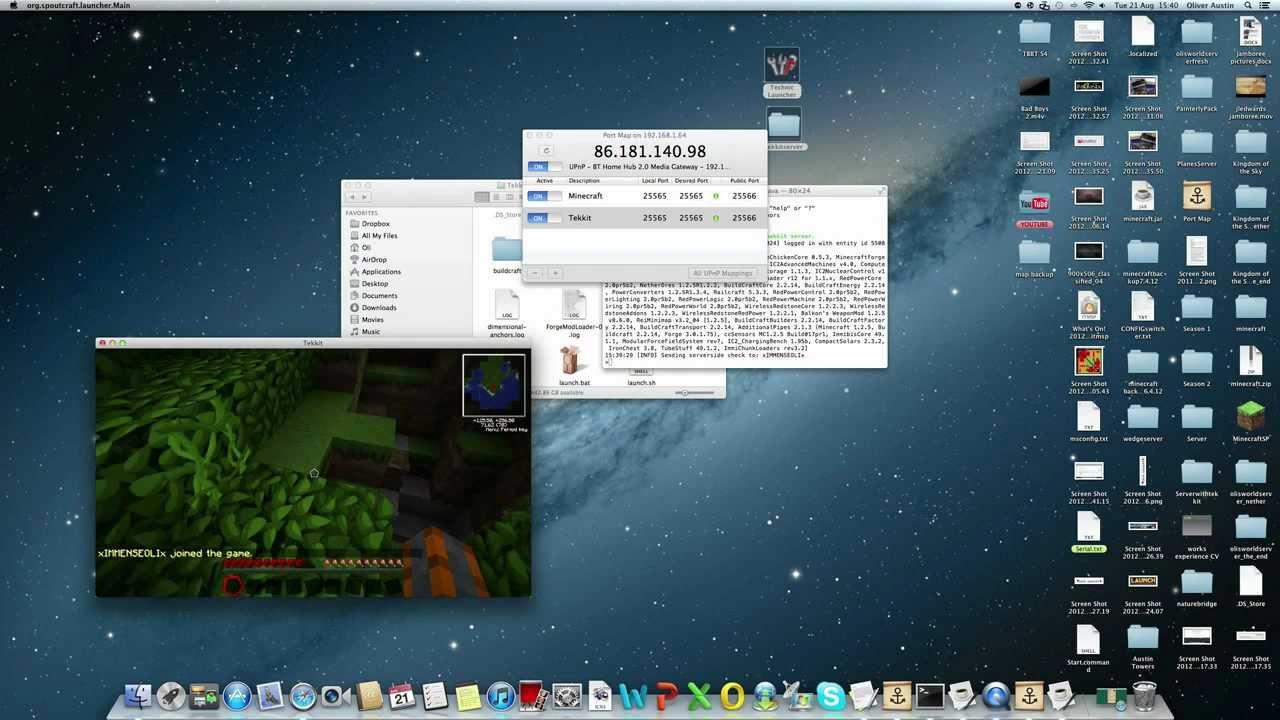 minecraft tekkit server tutorial mac