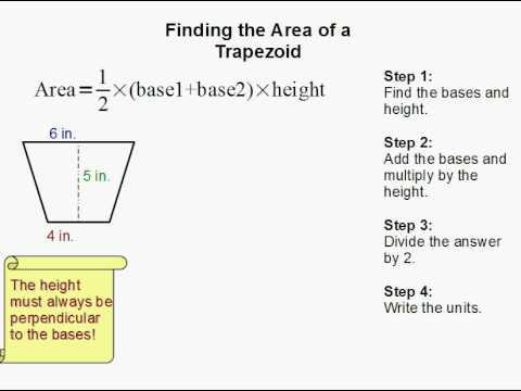 Worksheet Area Of A Trapezoid Worksheet how to find the area of a trapezoid youtube