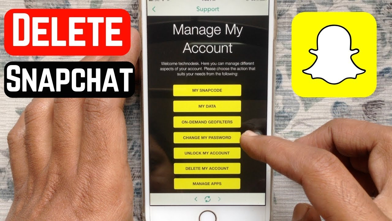 How To Delete Snapchat Account 2019 Youtube
