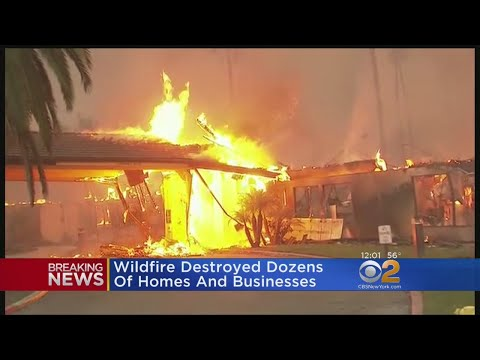 Wildfires Destroy Dozens Of Homes, Business In California