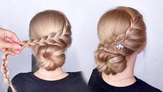 Легкая прическа на длинные волосы Простые прически пошагово Косы