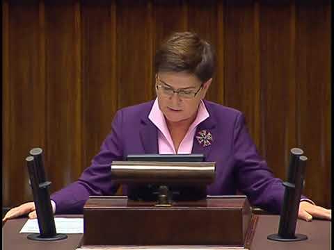 Beata Szydło - wystąpienie z 27 września 2017 r.