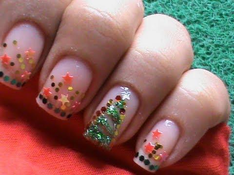 christmas nail art tutorial  youtube