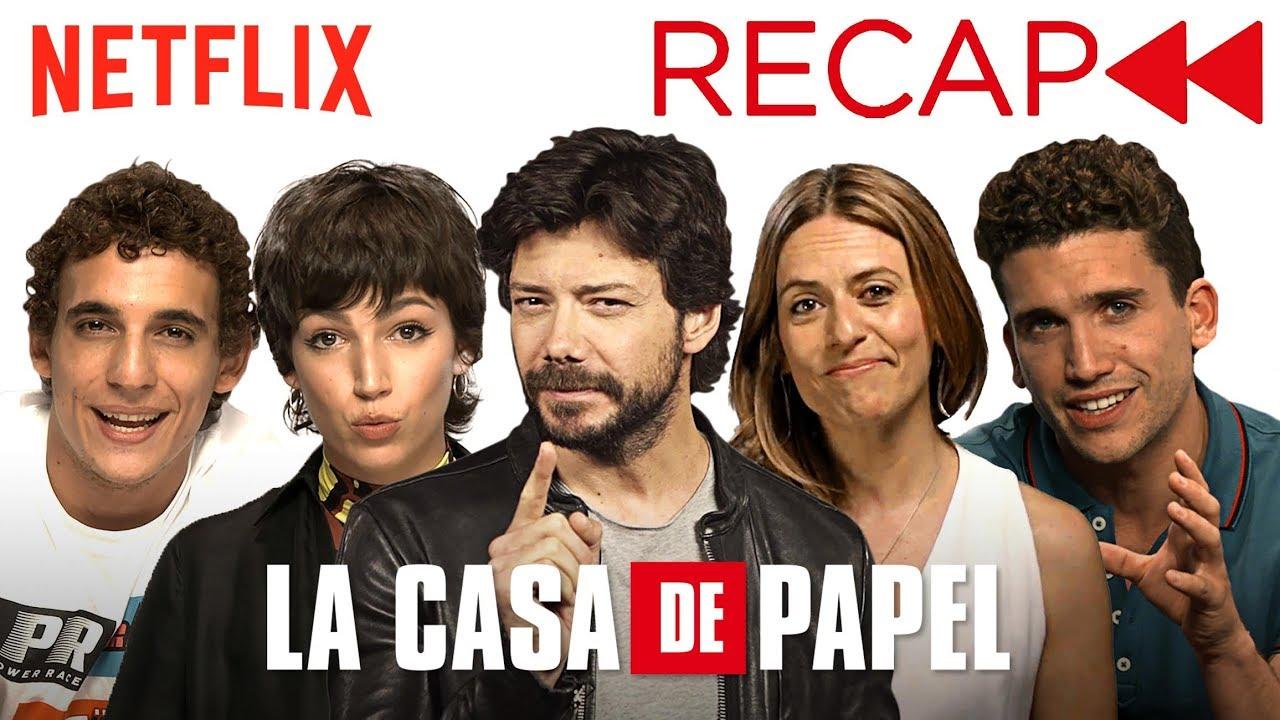 La Casa De Papel Money Heist Cast Recaps Seasons 1 2 Netflix