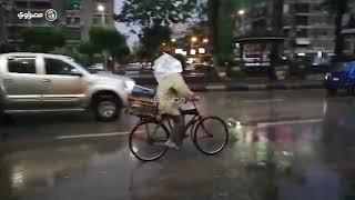 الأمطار تتساقط لليوم الثاني علي الجيزة والقاهرة