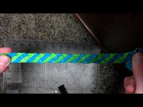 4 Strand Duct Tape Bracelet Tutorial