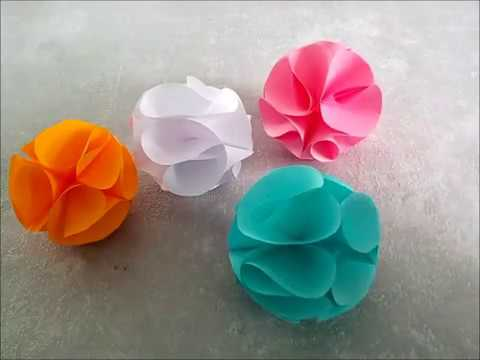 Diy papierkugeln fr hlingssdeko selber machen osterdeko youtube - Papierkugeln basteln ...
