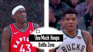 Pascal Siakam (30 pts) vs Giannis (43 pts) - Longboy Battle - Highlights with Defense - 1.5.2019