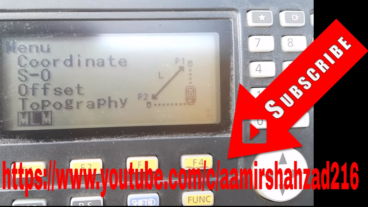 How to use MLM in Sokkia Total Station Cx105 in Urdu/Hindi
