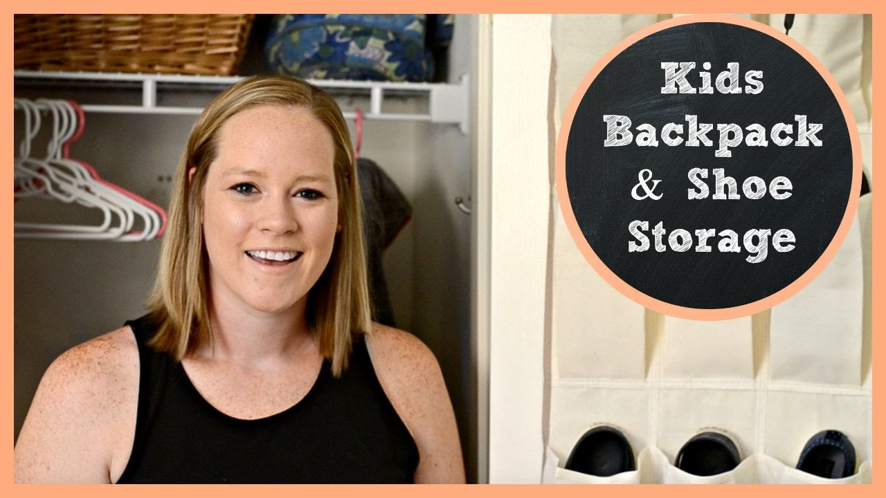Kids Backpack And Shoe Storage | Back To School Prep 2015