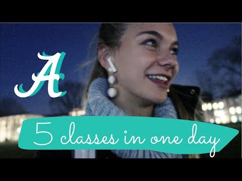 full day of classes - day in my life | university of alabama