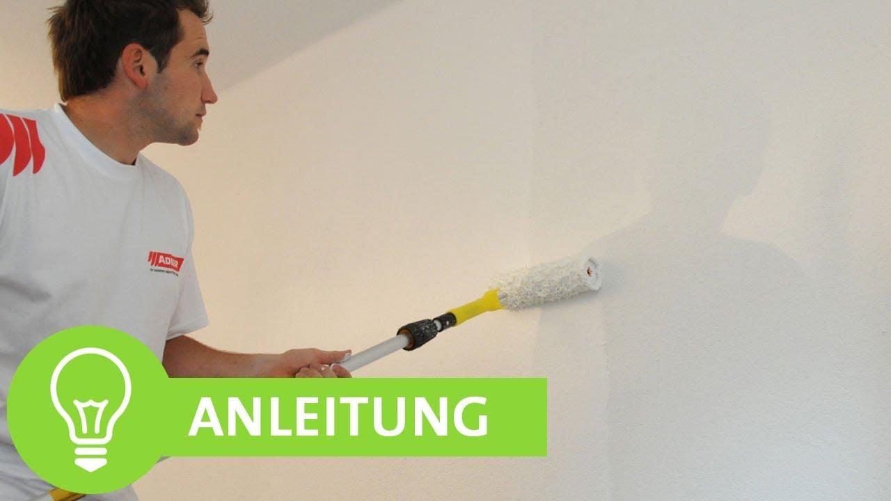 Wand weiß streichen - Decke weiß streichen: Anleitung und Tipps