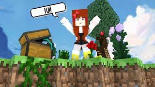 Minecraft MORANDO sozinha NUMA  LHA   Skyconomy 1