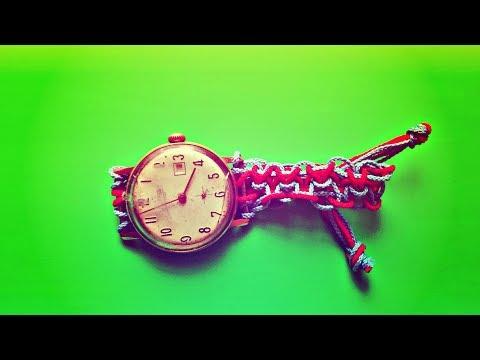 Ремешок для часов своими руками  Женский ремень на часы из веревочек  Уроки макраме