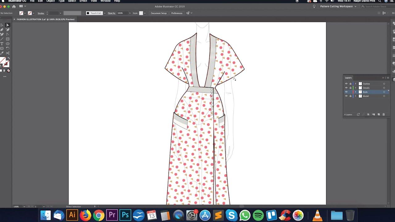 Digital Fashion Illustration With Adobe Illustrator Youtube