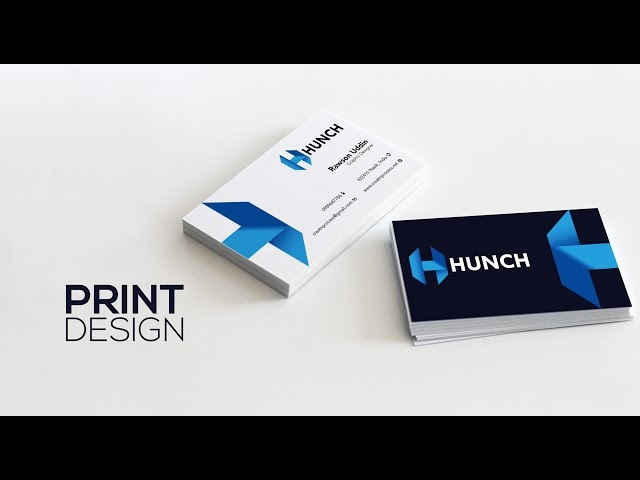 Print Design - Print Ready Business Card - Adobe Illustrator