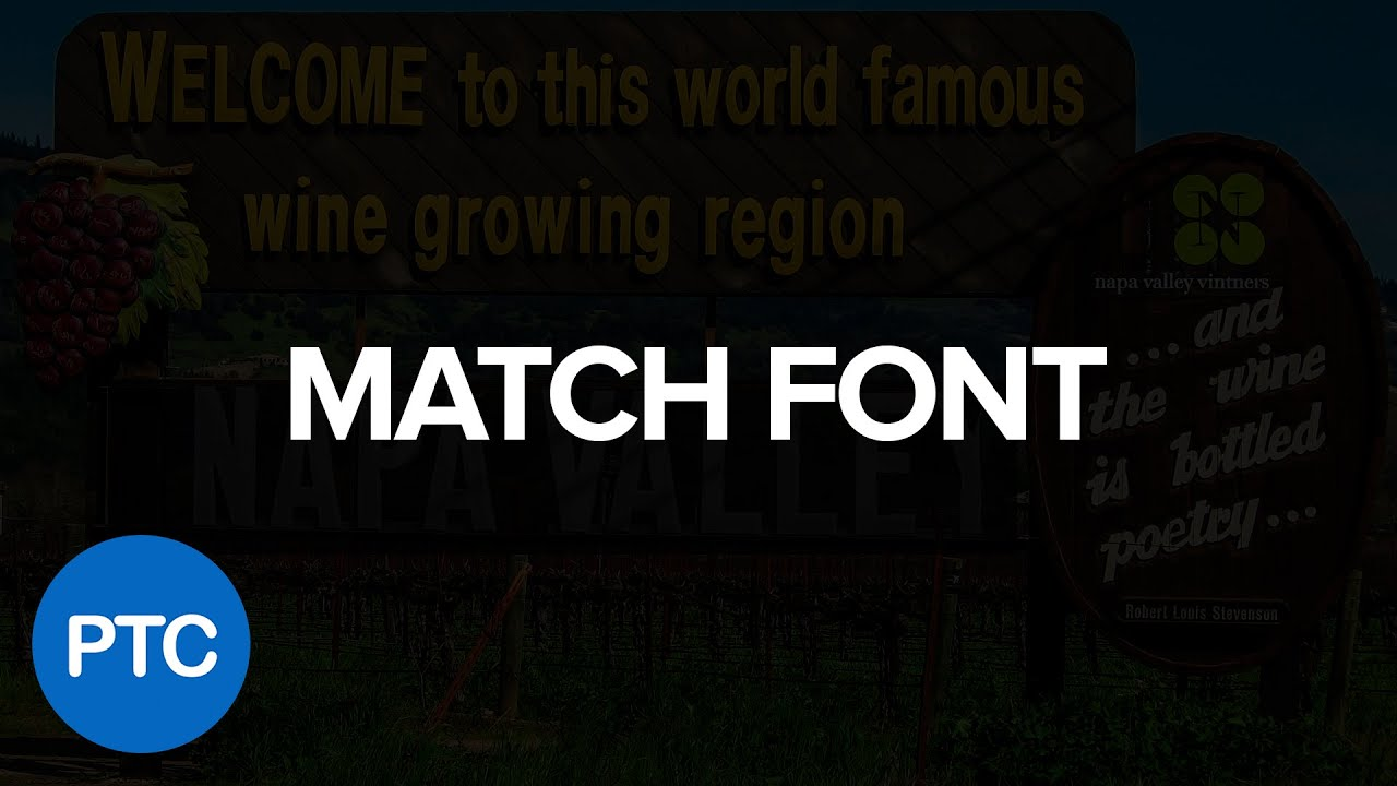 How To Match Fonts In Photoshop