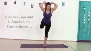 Anleitung Aerial Yoga: stehende Positionen