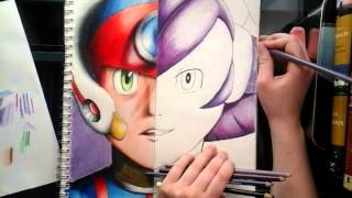 speedcolor axl and lumine from megaman x part 2