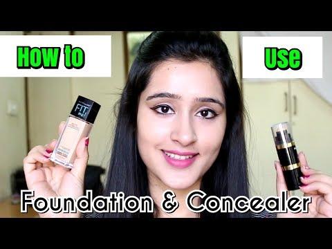 कैसे लगाएं फाऊंडेशन और कन्सीलर | How to buy & Apply Foundation & Concealer