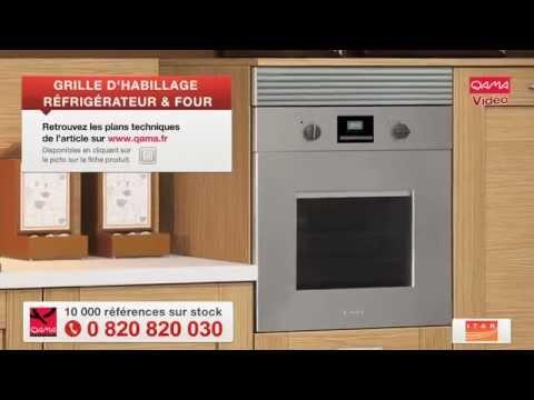 Grille d 39 habillage de four ou frigo par qama youtube for Four micro onde encastrable meuble haut