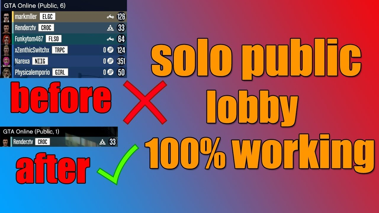 WORKING JAN 2019 How To Get A SOLO Public GTA Online Session PC 2019 ! (WORKING JANUARY 2019!!!)