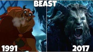 Beauty and the Beast 1991 vs 2017 Then and Now