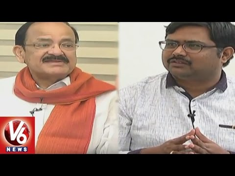 Special Interview With Union Minister Venkaiah Naidu || BJP Grand Victory || V6 News
