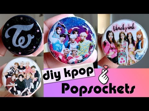 DIY KPOP | BTS | BLACKPINK | TWICE POPSOCKETS | RESIN DIY